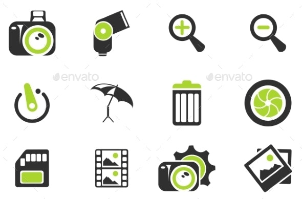 Photography Silhouette Icons - Icons