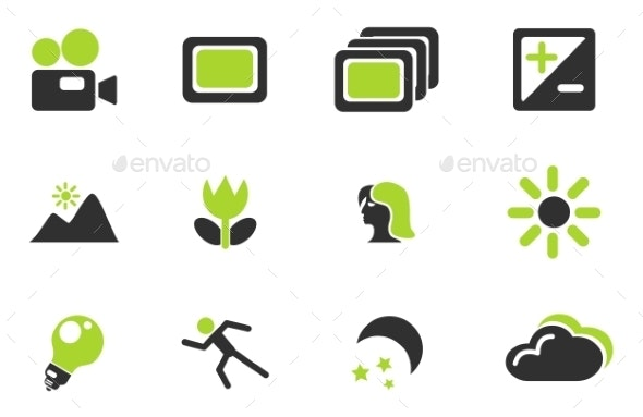Modes Of Photo Silhouette Icons - Icons