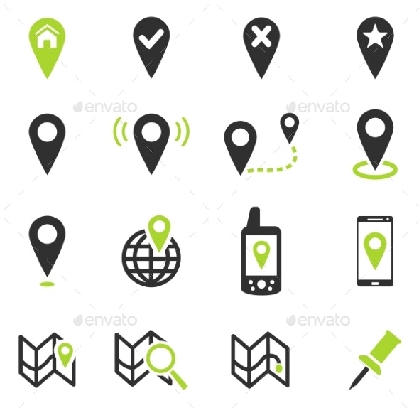 Pointer And Maps - Icons