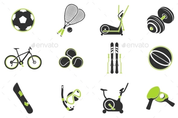 Sport Equipment Symbols - Icons