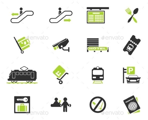 Train Station Symbols - Icons
