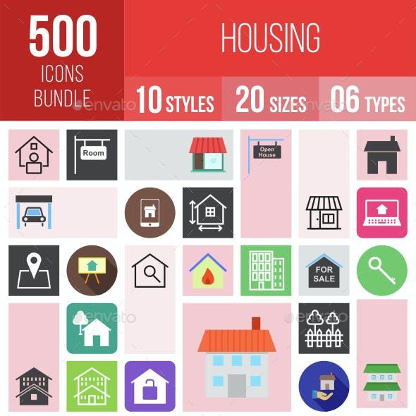 500 Housing Icons Bundle