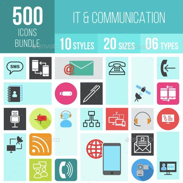 500 IT & Communication Icons Bundle