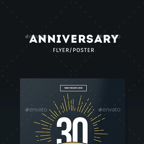Vintage Anniversary Flyer