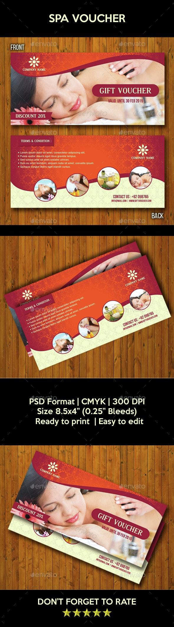 Spa Voucher - Cards & Invites Print Templates