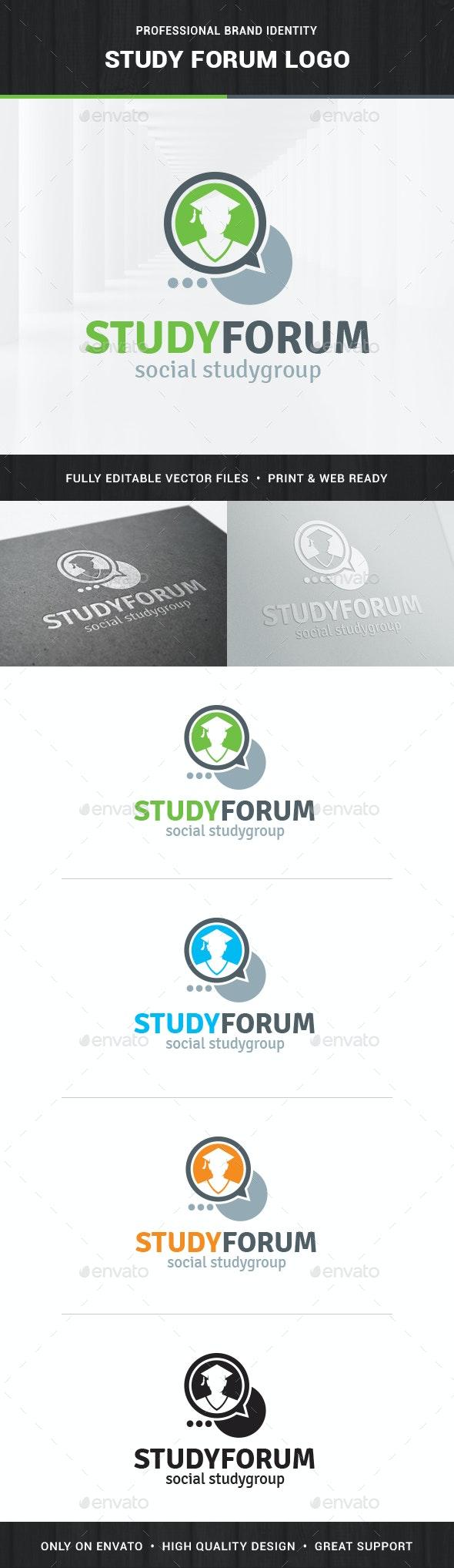 Study Forum Logo Template - College Logo Templates