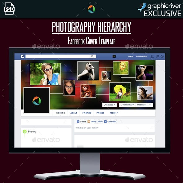 Photography Hierarchy Facebook Cover Template