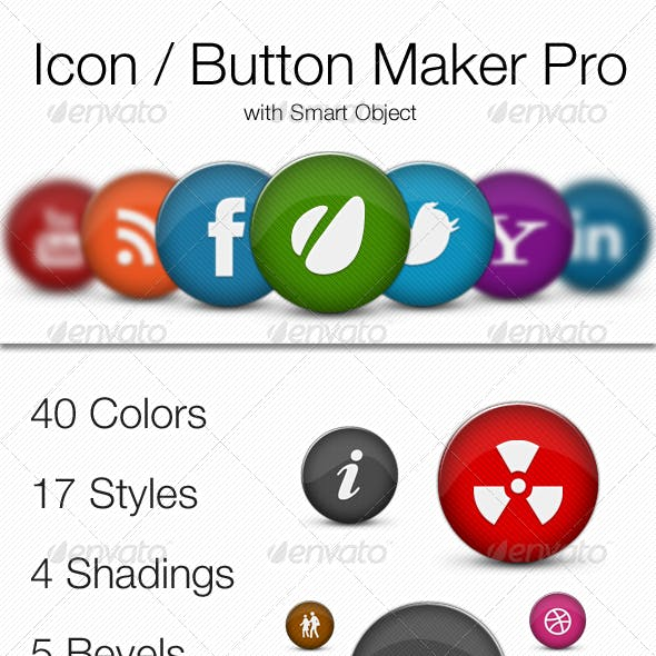 Icons / Buttons Maker Pro