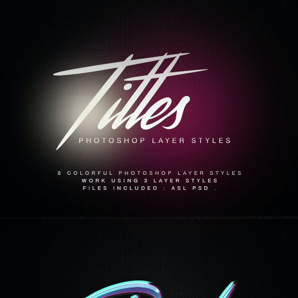 Titles Photoshop Layer Styles