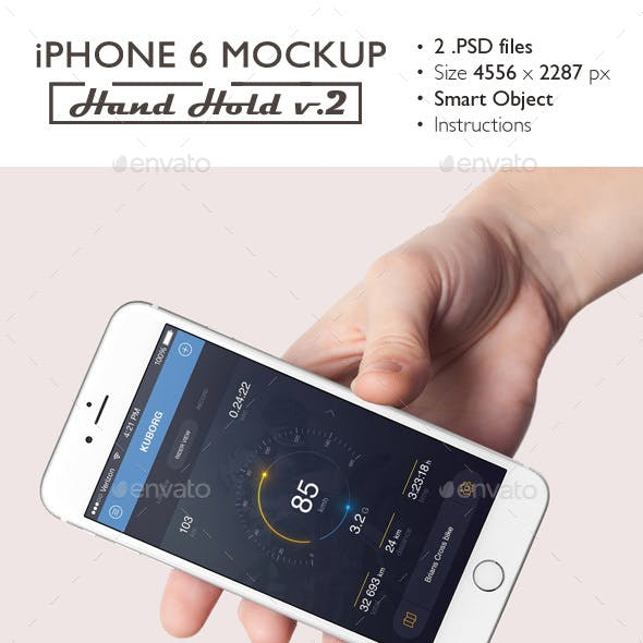 iPhone 6 Mockup Hand Hold v.2