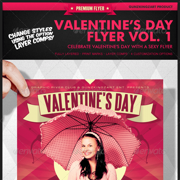 Valentine's Day Flyer Vol. 1