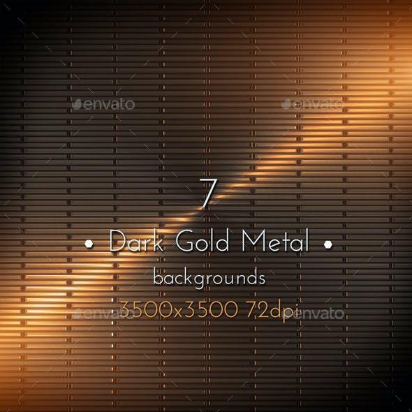 Dark Gold Metal Surface