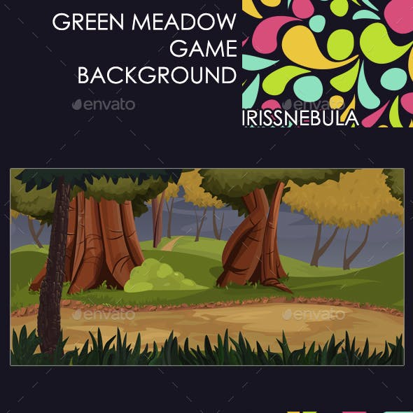 Green Meadow Game Background