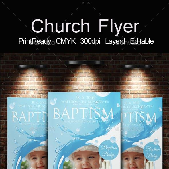 Baptism Sunday Church Flyer Invite Templates