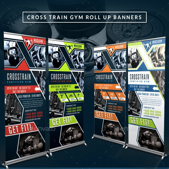 Cross Training Gym Roll Up Banners