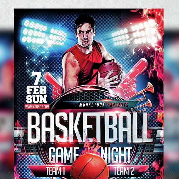 Flyer Basketball Game Night