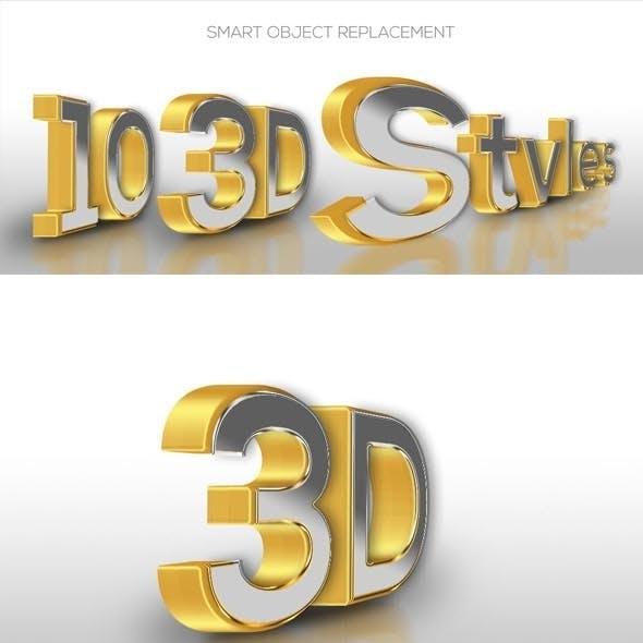 10 3D Text Style V.49JAN