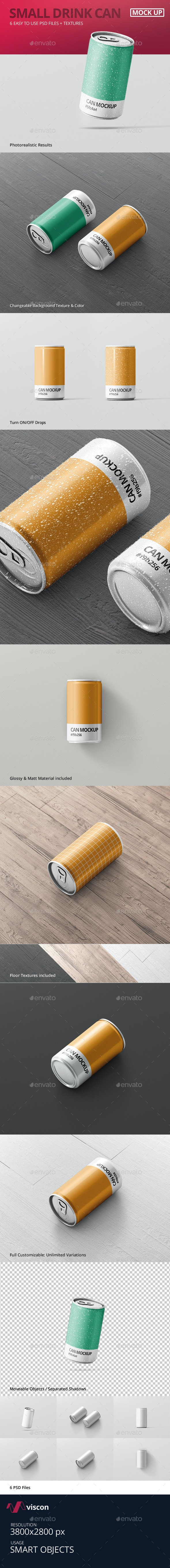 Drink Can Mock-Up - Food and Drink Packaging