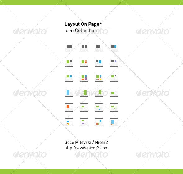 Layout On Paper - Vector Icon Collection
