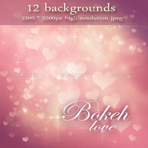 Festive Bokeh Backgrounds - Valentine's Day
