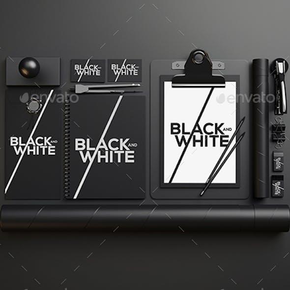 Branding / Identity Black and White Mock-Up