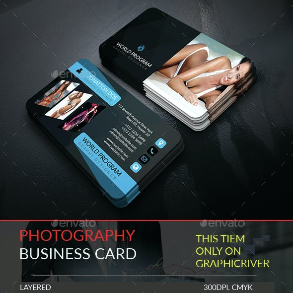 Photography Business Card Template.247