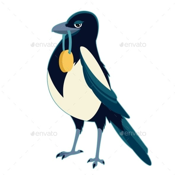 Magpie With Medal