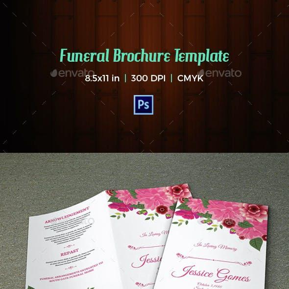 Floral Funeral Program Template-V05