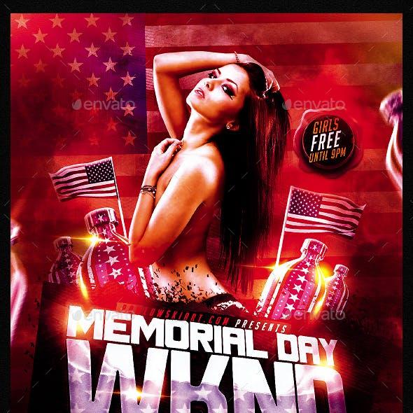 Memorial Day Weekend v2 PSD Flyer Template