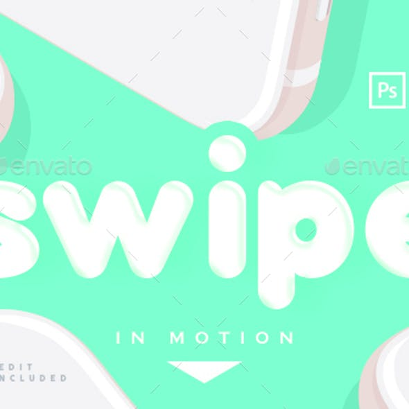 Swipe Animated Phone Mock Up