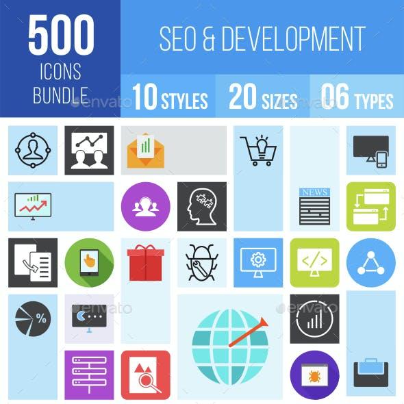 500 SEO & Development Icons Bundle
