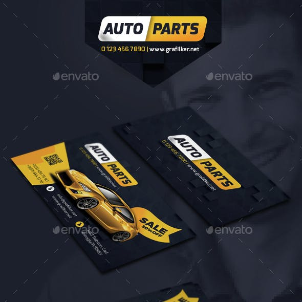 Auto Spare Part Business Card Templates
