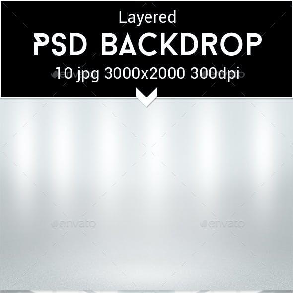 Infinite White Room PSD Backdrop