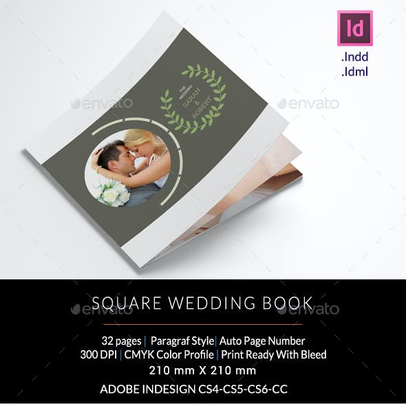 Square Wedding Photo Book
