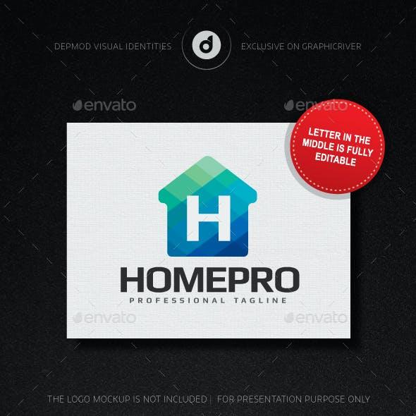HomePro Logo (Editable letter)