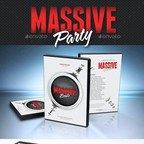 Massive Party Event DVD Cover Template