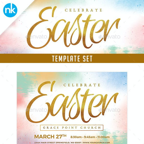 Easter Sunday Church Template Set - Celebrate
