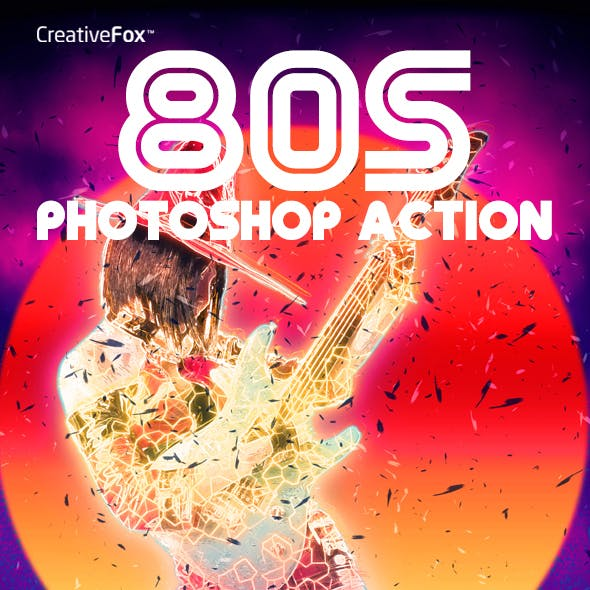 80s Photoshop Action - Eighties Retro Style Action