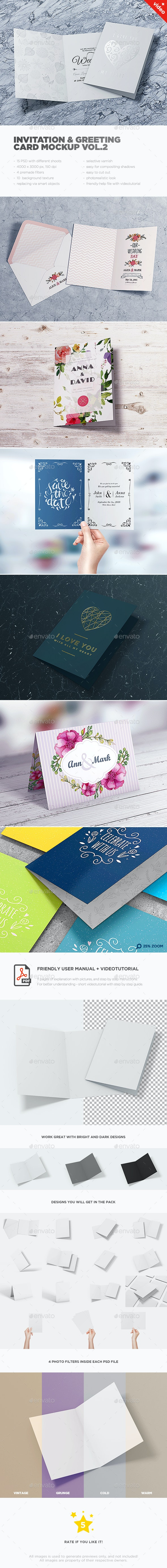 Invitation & Greeting Card MockUp vol.2 - Miscellaneous Print