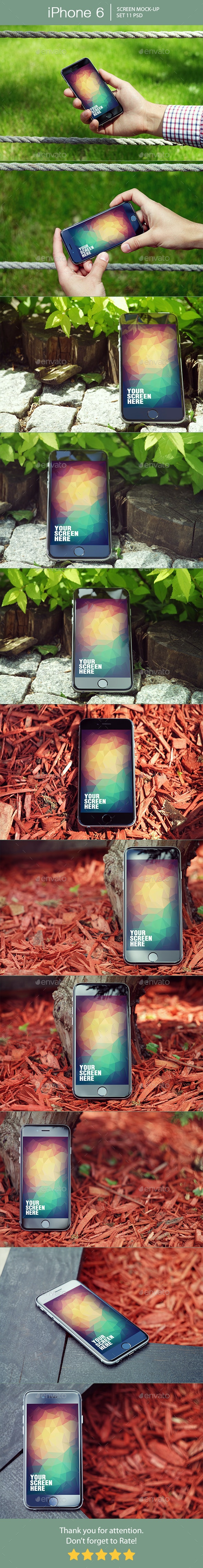 iPhone 6 Screen Mockup - Mobile Displays