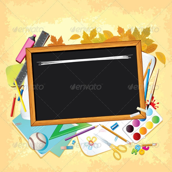 Back to School Theme - Objects Vectors