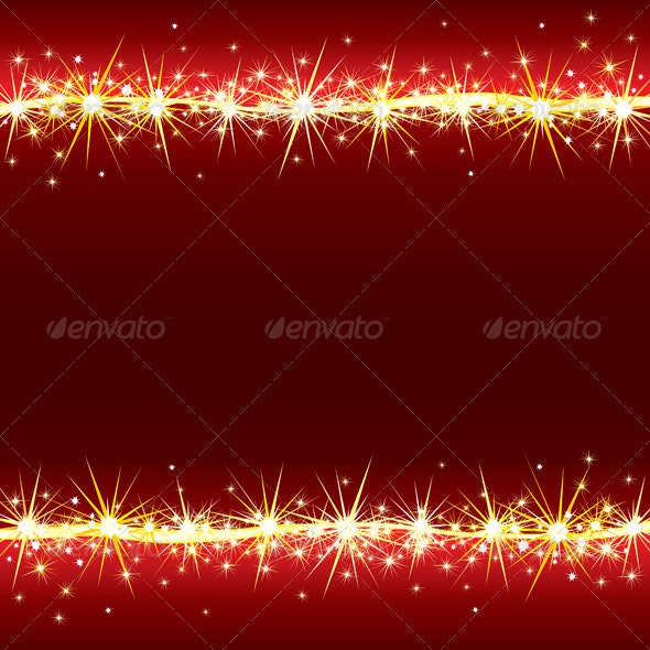 Bright Sparkling Background with Stars - Characters Vectors