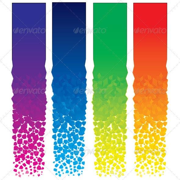 Vertical Banners - Characters Vectors