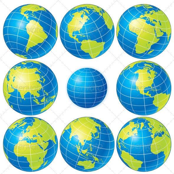 Vector Globes - Characters Vectors