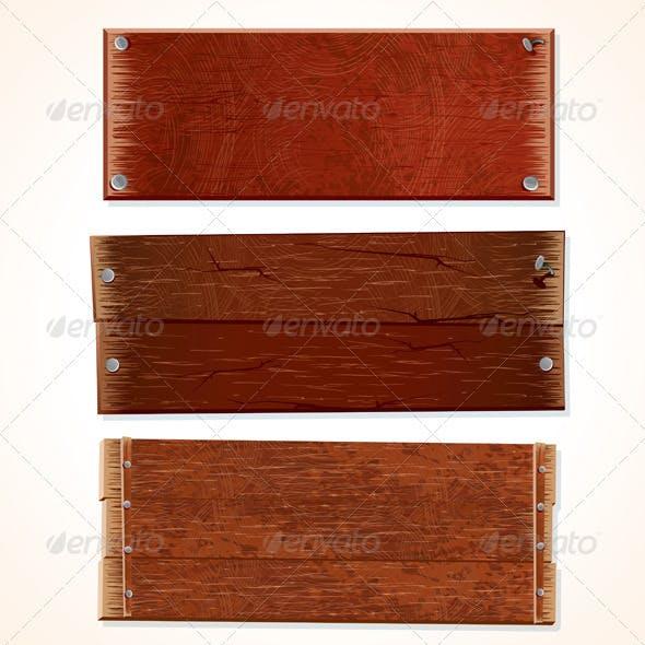 Vector Wooden Boards
