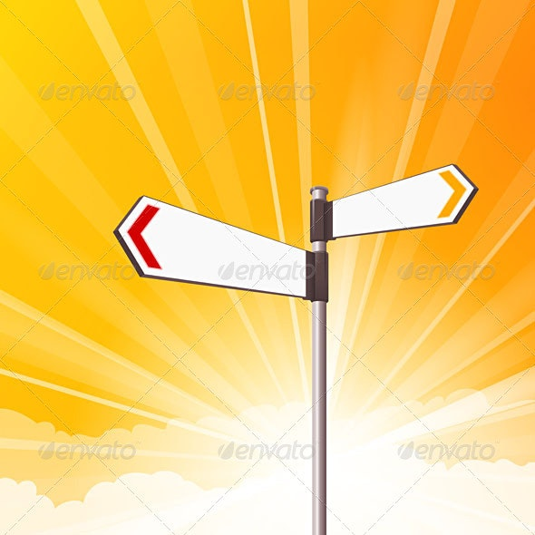 Blank Destination Signs - Objects Vectors