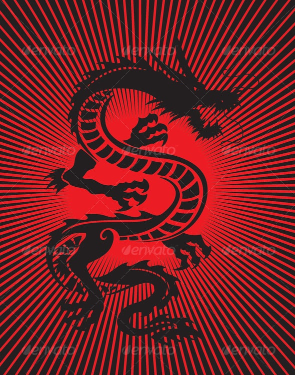 black dragon - Animals Characters