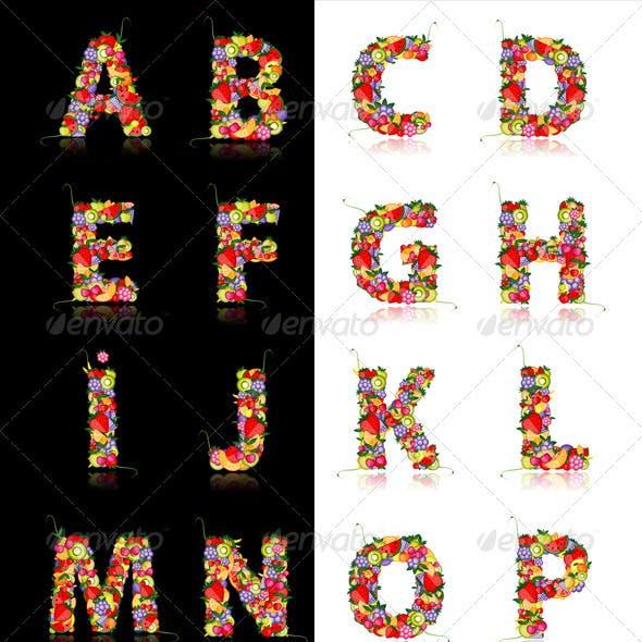 Fruit Alphabet For Your Design