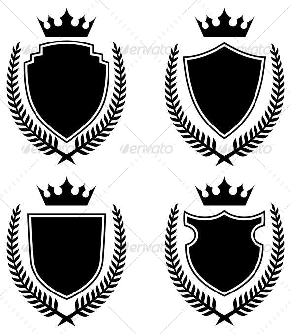 Shields design - Decorative Symbols Decorative