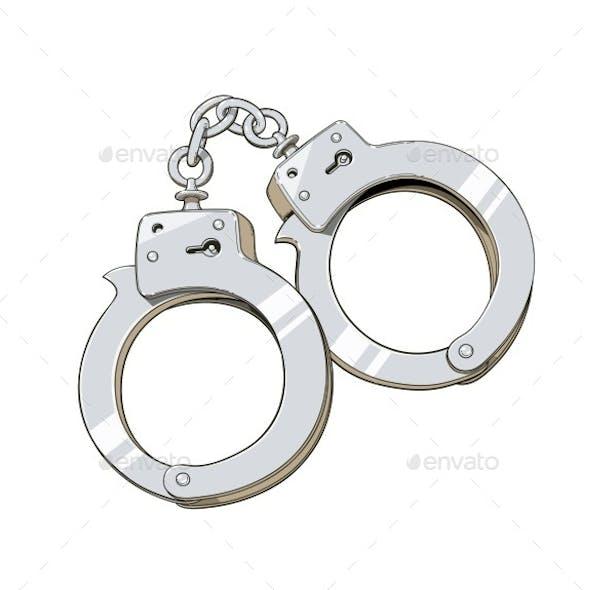 Iron Handcuffs for Criminal
